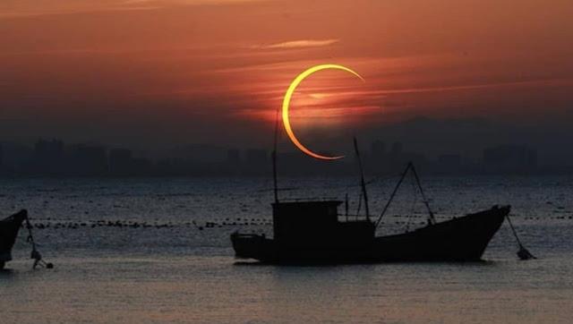 """غدا كسوف حلقي للشمس تعرف على مراكزه واستعد للمشاهدة """"لكن""""-اخبار فلسطين اليوم"""