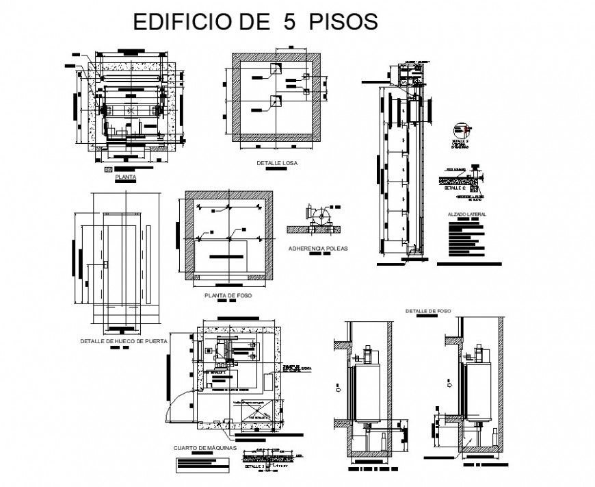 ELEVATOR BLOCKS DETAIL 2D VIEW ELEVATION AND PLAN AUTOCAD FILE