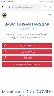 Website resmi corona virus jateng