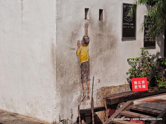 Pinturas de rua em Penang