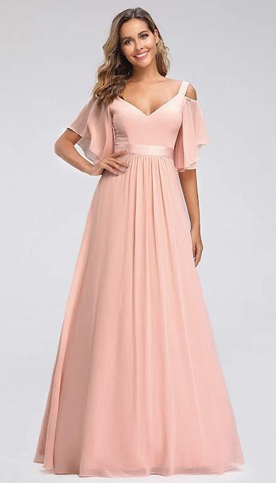 Lovely Pink Chiffon Bridesmaid Dresses