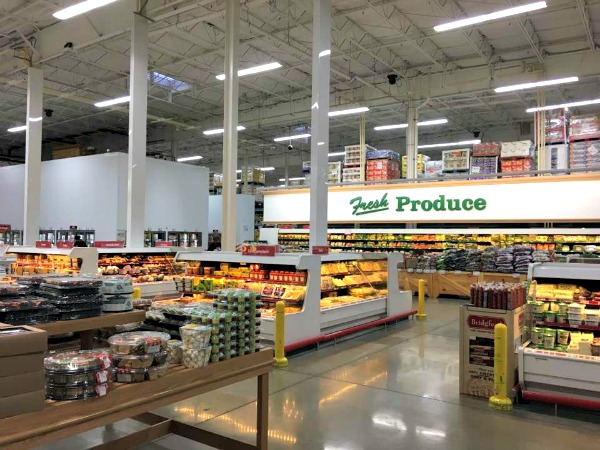 Fresh Produce area in BJ's Wholesale Club featured on Walking on Sunshine Recipes