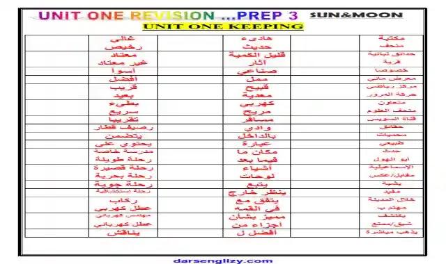 اقوى كراسة تسميع كلمات اللغة الانجليزية الصف الثالث الاعدادى ترم اول 2022 المنهج الجديد