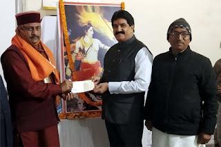 समाजसेवी ज्ञान प्रकाश सिंह ने राम मन्दिर निर्माण के लिये दिये 1.21 करोड़ | #NayaSaberaNetwork
