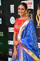 Priya Shree in Beautiful Blue Saree at IIFA Utsavam Awards 2017  Day 2    HD Exclusive Pics 23.JPG