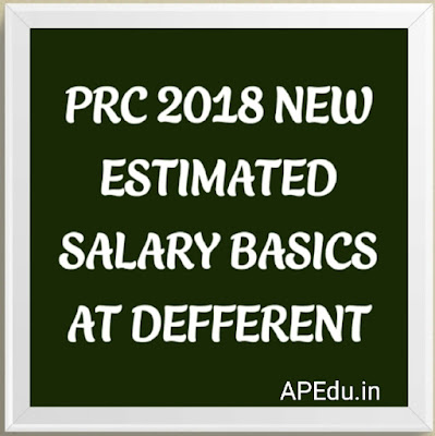 PRC 2018 NEW ESTIMATED SALARY BASICS AT DEFFERENT FITMENT LEVELS