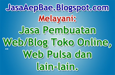 Jasa Pembuatan Toko Online, Blog, Web pulsa