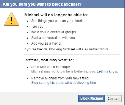 Blocking someone On Facebook ~ AppsNg