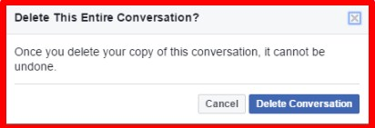 how to delete messages on facebook all at once