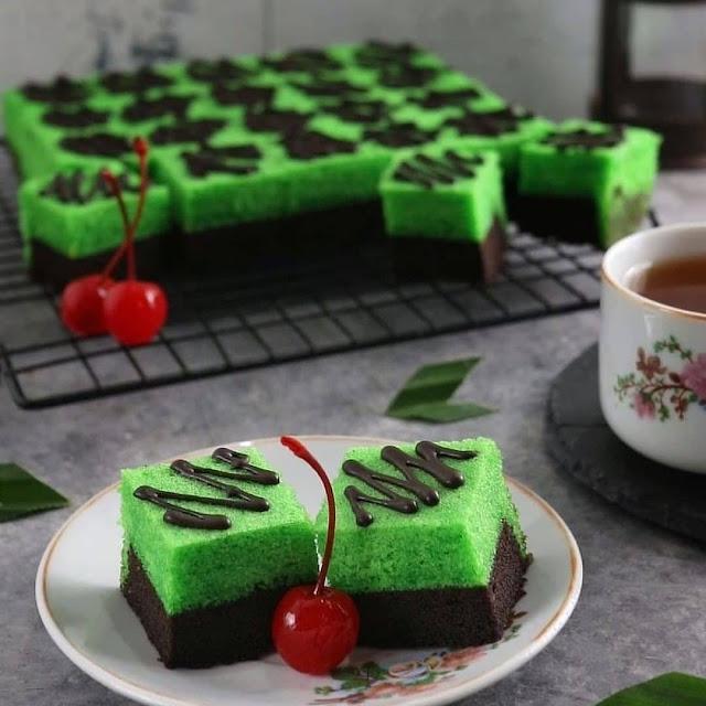 Resep Praktis Brownies Kukus Coklat Pandan