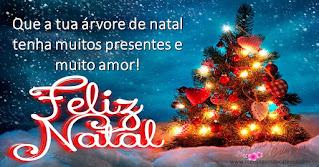 Que a tua árvore de natal tenha muitos presentes e muito amor!