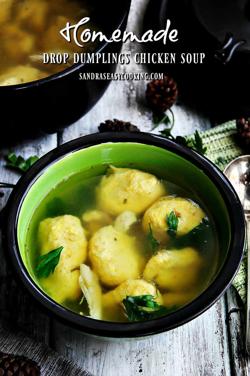 Delicious #recipe for Homemade Drop Dumplings, Chicken Soup