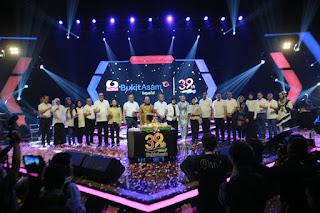Gelar Malam Puncak HUT PT Bukit Asam Tbk Ke-39 Hadirkan Grup Band Ungu dan Siti Badriah
