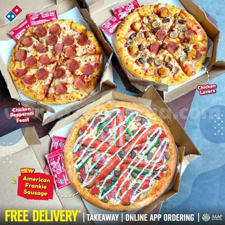 DOMINO'S PIZZA PAPI TRIO Promo 3 Medium Pizza CUMA 48rb/pizza