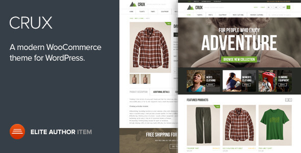 Free Download Crux Modern and lightweight WooCommerce WordPress Theme
