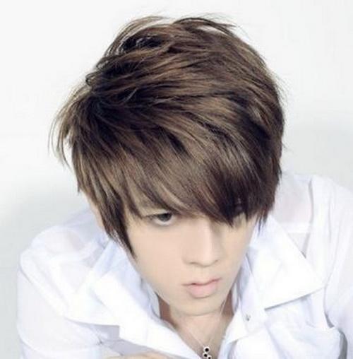 Dark brown hair color male