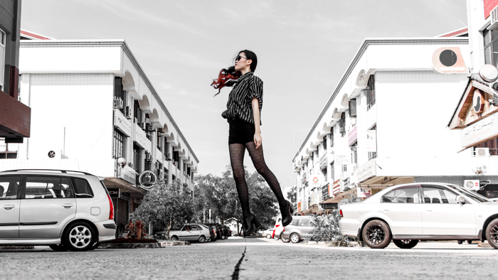 Brunei Fashion Blogger Model May Cho of THEMAYDEN, Vintage Glam