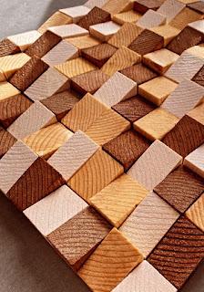 création du tableau en bois en volume