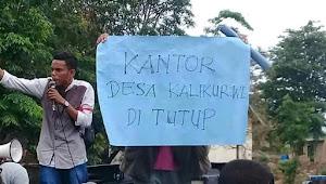 Massa Aksi di Kalikur Turun Jalan Usung 7 Tuntutan