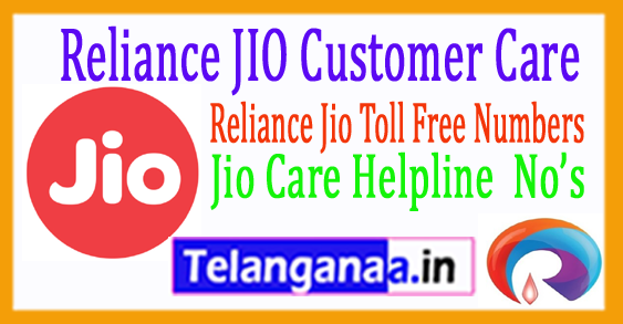 Reliance JIO Customer Care No Reliance Jio Toll Free Numbers (Contact Us)