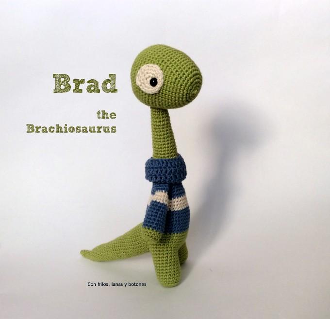 Con hilos, lanas y botones: Brad the Brachiosaurus amigurumi