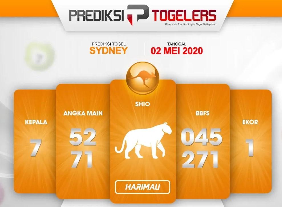 Prediksi Togel Sydney 02 Mei 2020 - Prediksi Togellers