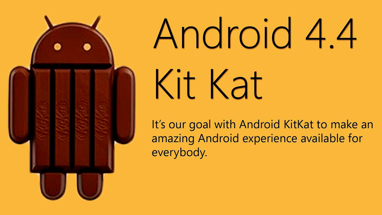 Android kitkat   - 4.4.1 - 4.4.2 - 4.4.3 - 4.4.4 ...