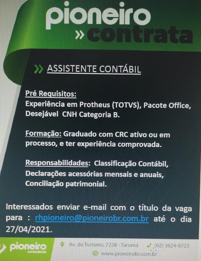 PIONEIRO COMBUSTÍVEIS, EMPREGO E ESTÁGIO