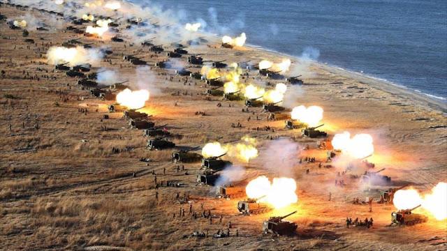 Líder norcoreano dirige simulacro de ataque a Casa Azul en Seúl