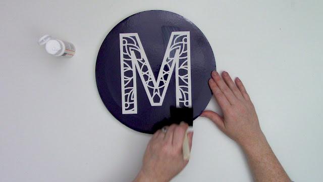 stencil, cameo 3, cameo 4 pro, mandala monogram, canvas project