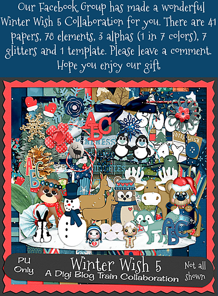 Digi Blog Train List Winter Wish 5 Freebie