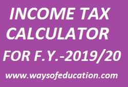 Income tax Calculator Excel file by Hitesh Ahjoliya sir | Income Tax Calculator For F.Y. 2019-20