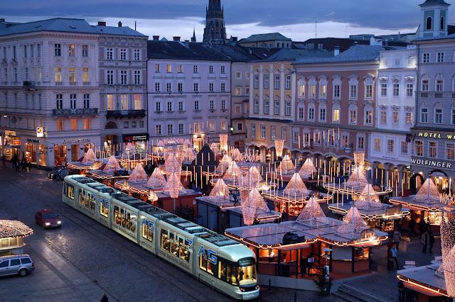 Cidade turística de Linz na Áustria