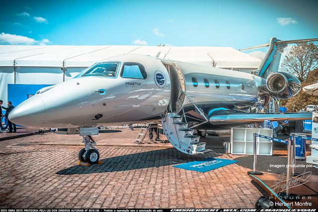 Brasileiro recebe o primeiro avião executivo Embraer Praetor 500 entregue no Brasil |  | Foto © Herbert Monfre - Fotógrafo de avião - Eventos - Publicidade - Ensaios - Contrate o fotógrafo pelo e-mail cmsherbert@hotmail.com | Imagem produzida por Herbert Pictures - É MAIS QUE VOAR