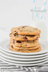 Salted chocolate chunk cookies - these amazingly delicious cookies have the perfect texture and are loaded with gooey chocolate chunks!