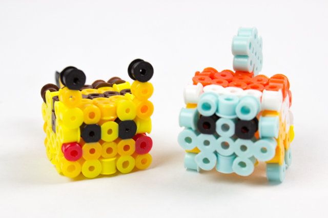 easy 3d perler bead pikachu and squirtle craft for kids
