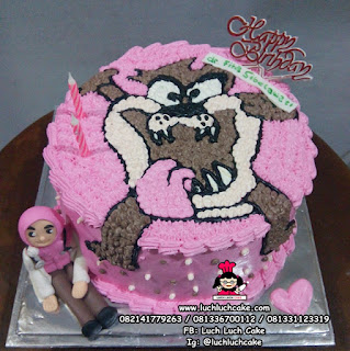 Kue Tart Tazmania Pink Cake