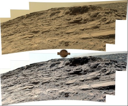 Sol 1033 Curiosity Left Mastcam (M-34) Pahrump Hills