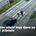 VIDEO: Automobilom udario troje djece na pješačkom prijelazu