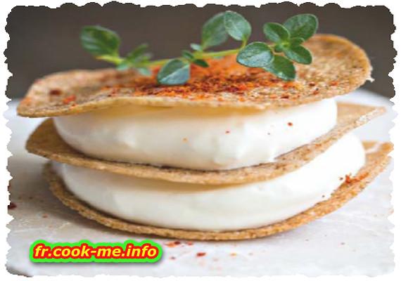Minigalette de sarrasin et crème fouettée