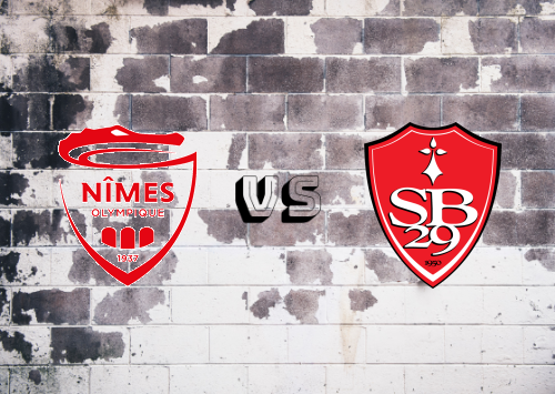 Nîmes vs Brest  Resumen