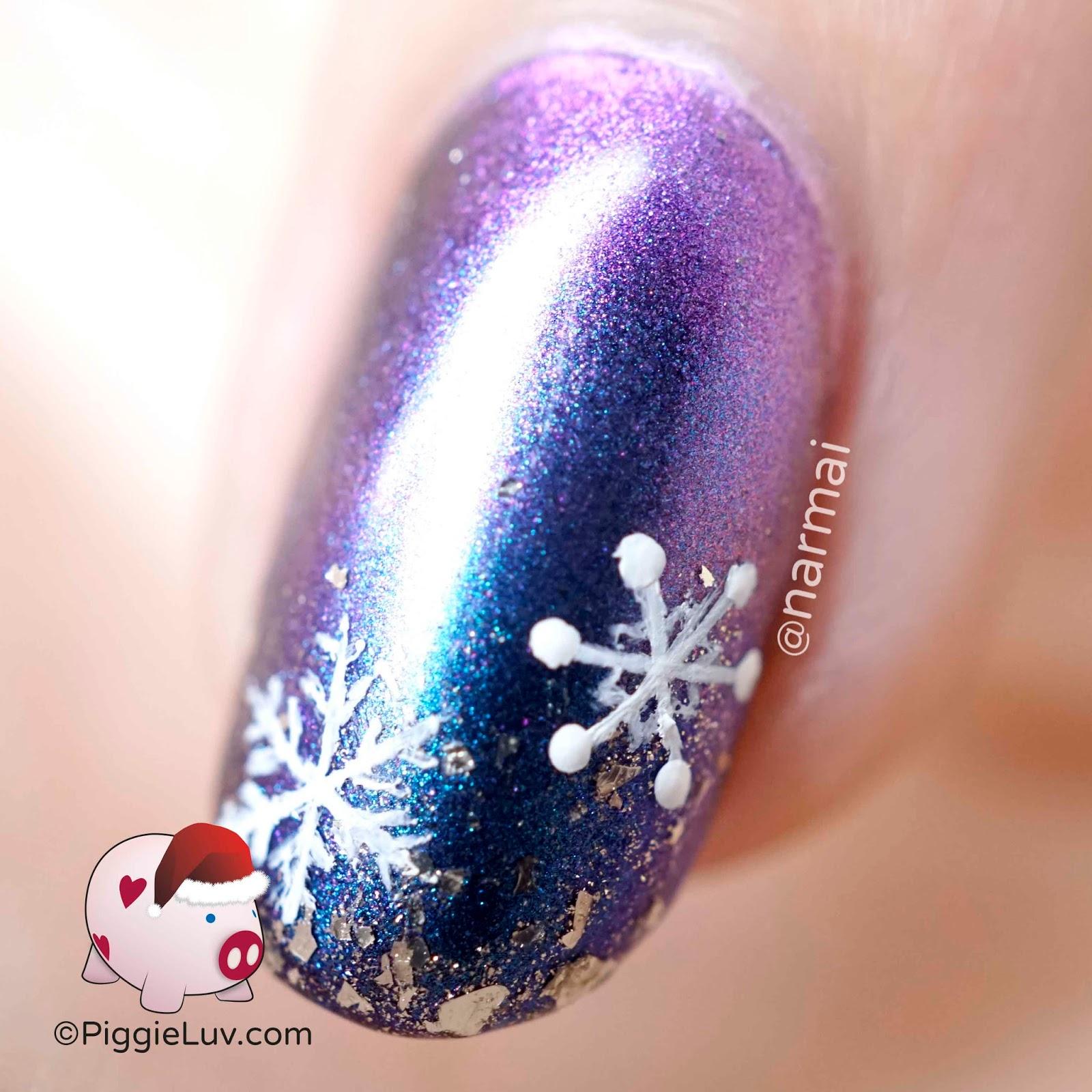 Piggieluv Happy Christmas Penguin Nail Art