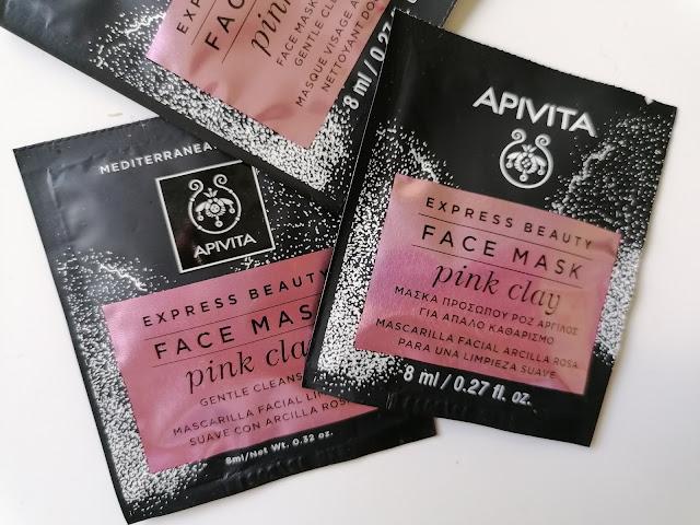 Apivita face mask pink clay