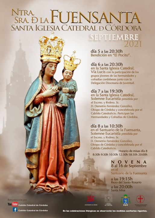 Cartel de Cultos en la SI Catedral de Ntra Sra de Fuensanta 2021. Córdoba