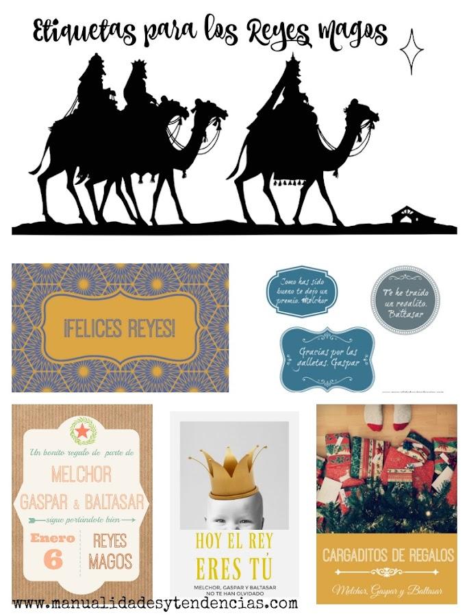 Etiquetas de regalo gratis para los Reyes Magos