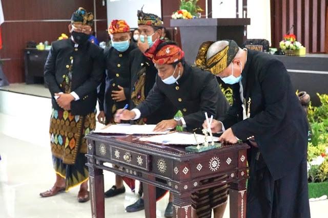 Bupati dan DPRD Lotim teken nota kesepakatan KUA-PPAS 2021