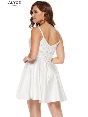 Sweetheart Alyce Paris Graduation Dress Diamond White Color Back side