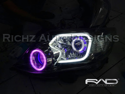 custom headlamp fortuner 2014