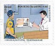 Selo O carteiro com Porte do Registro + AR