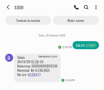 cek saldo bri sms banking